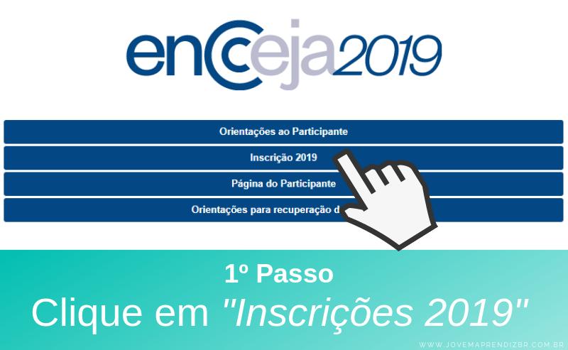 Inscrições ENCCEJA 2019 - Passo 1