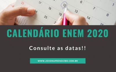 Calendário ENEM 2020 – Tudo sobre as datas