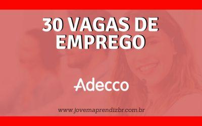 30 Vagas de emprego Adecco